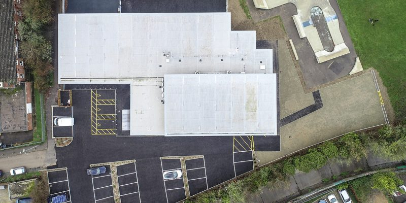 Nevendon Community Centre drone plan view