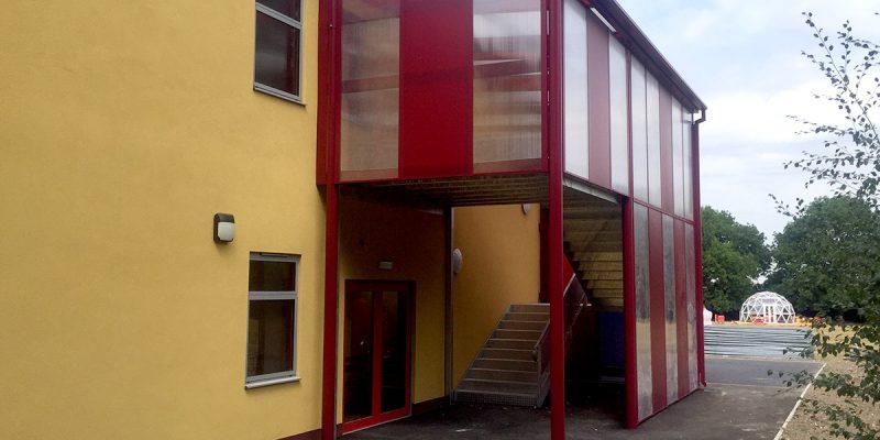 Riverside Primary School covered stairway