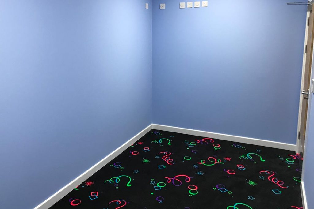 The sensory room at Kingsleigh Primary school