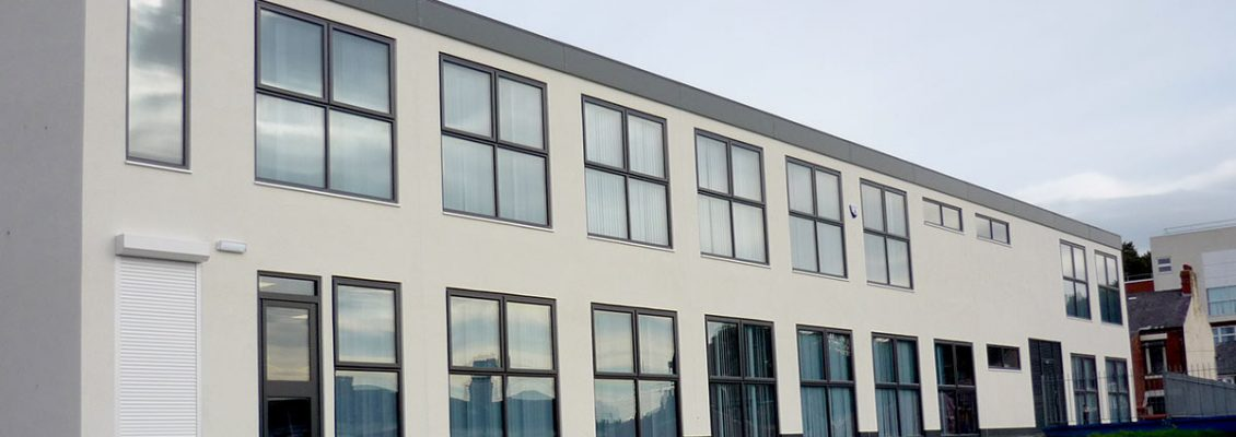 The front facade of the new Cardinal Newman College