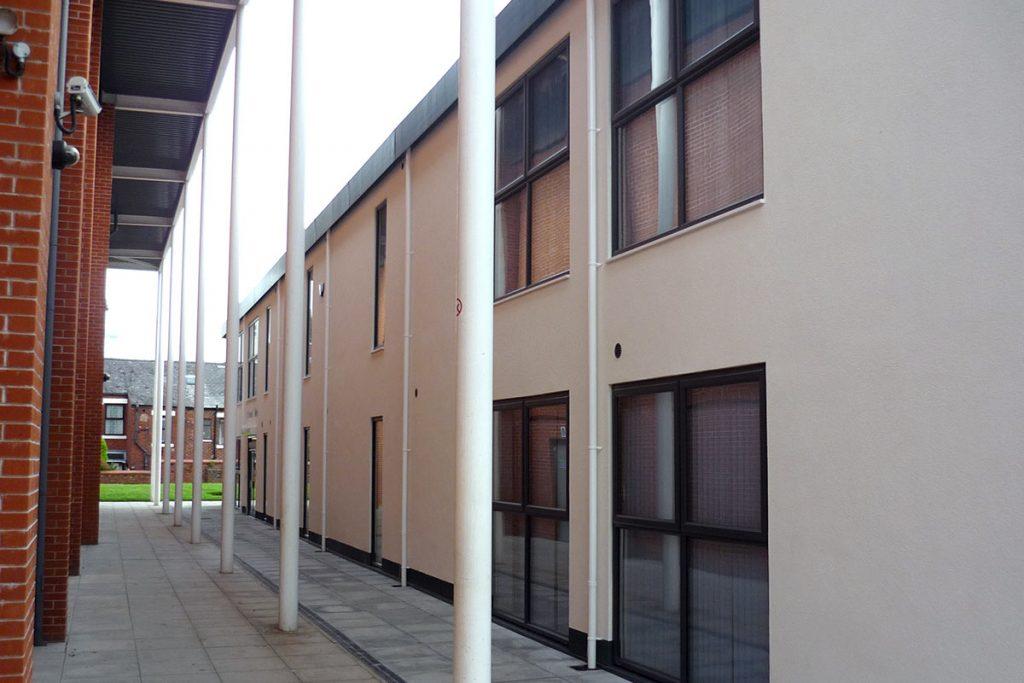 Walkway between 2 of the new Cardinal Newman College buildings