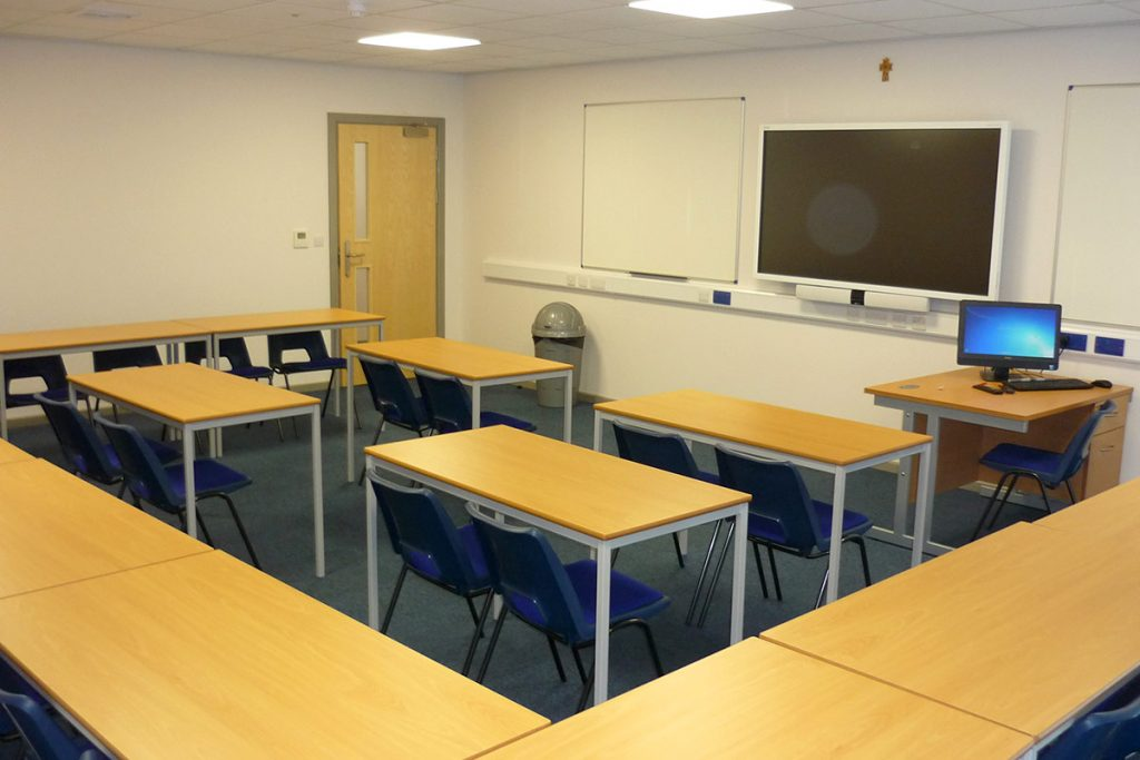 One of the new classrooms at Cardinal Newman College