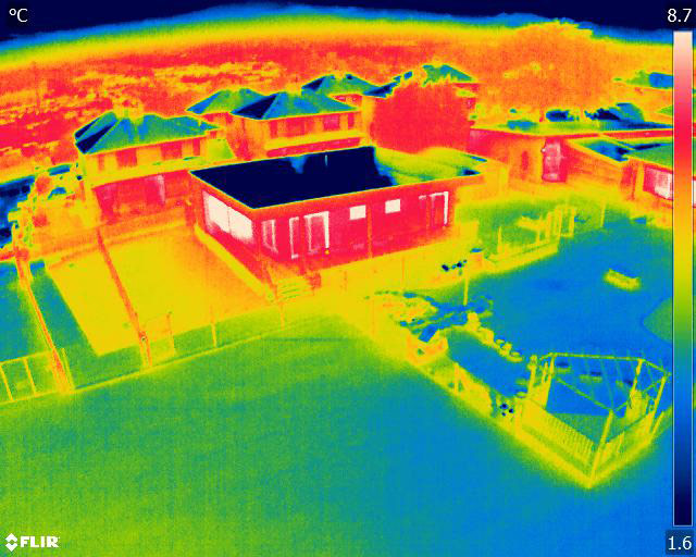 Thermal image of the new classroom at Low Ash